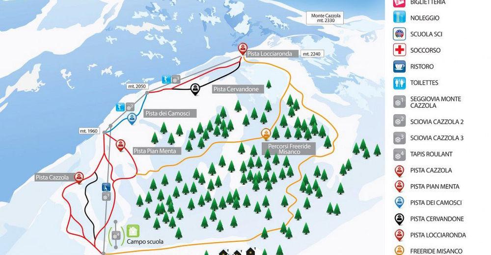 Bakkeoversikt Skiområde Alpe Devero