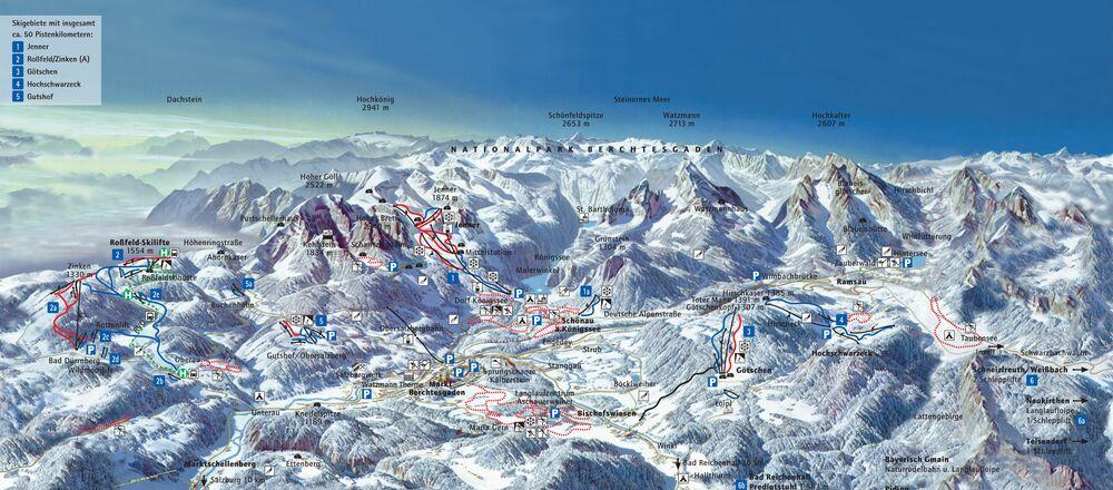 Loipenplan Berchtesgadener Land