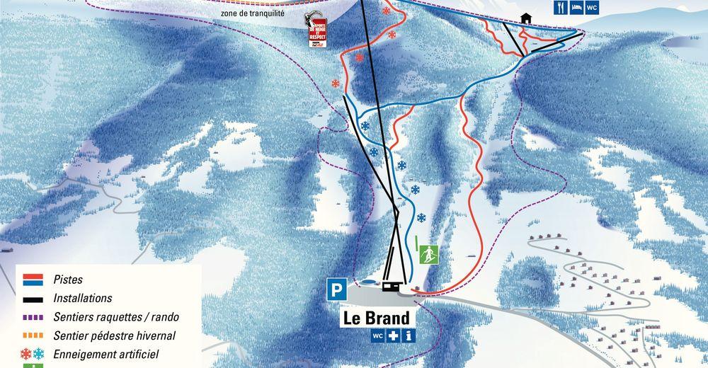 Planul pistelor Zonă de schi La Berra - La Roche