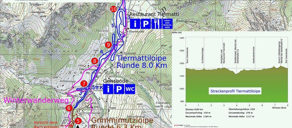 Loipenplan Diemtigtal - Grimmialp
