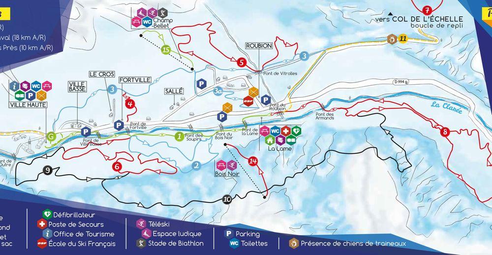 Pistenplan Skigebiet Névache