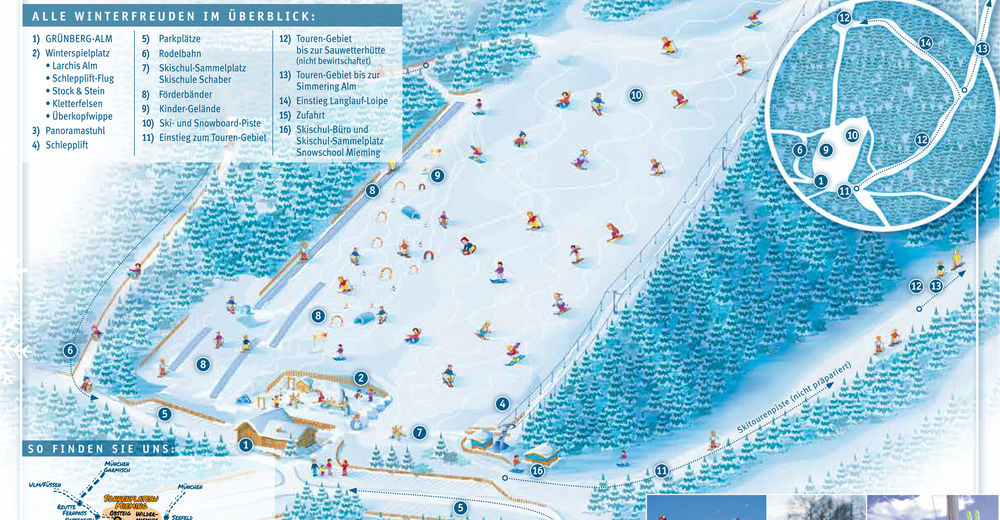 Piste map Ski resort Grünberg Obsteig