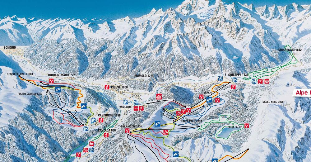 Pisteplan Skigebied Chiesa Valmalenco / Alpe Palù