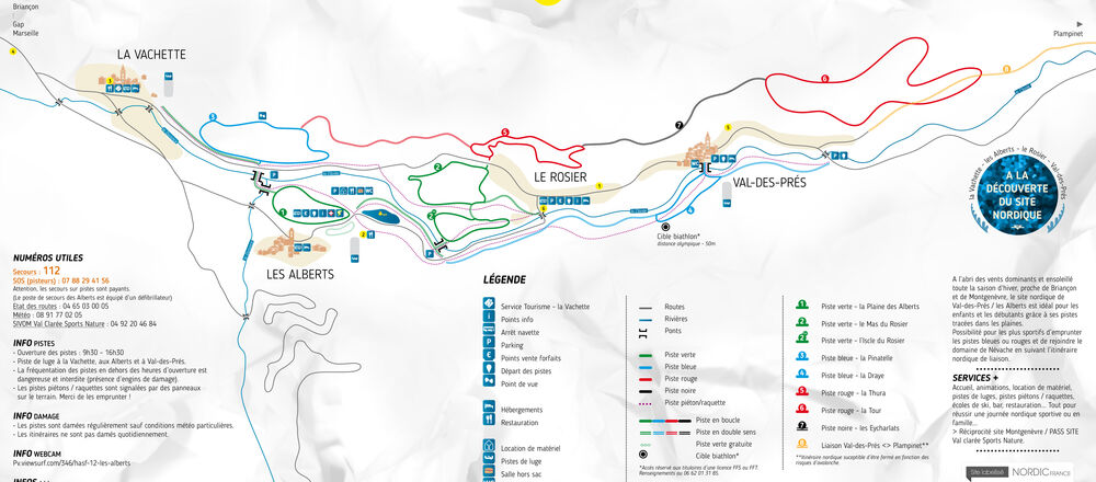 Loipenplan Val des Prés - Les Alberts