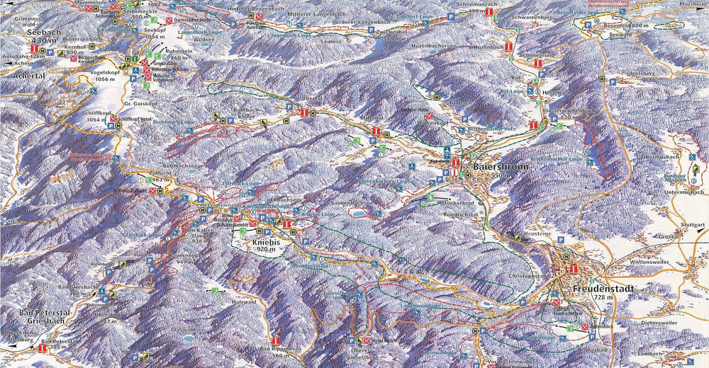 Piste map Ski resort Baiersbronn