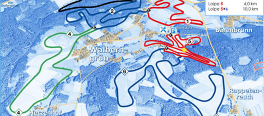 Loipenplan Walberngrüner Gletscher / Gösmes