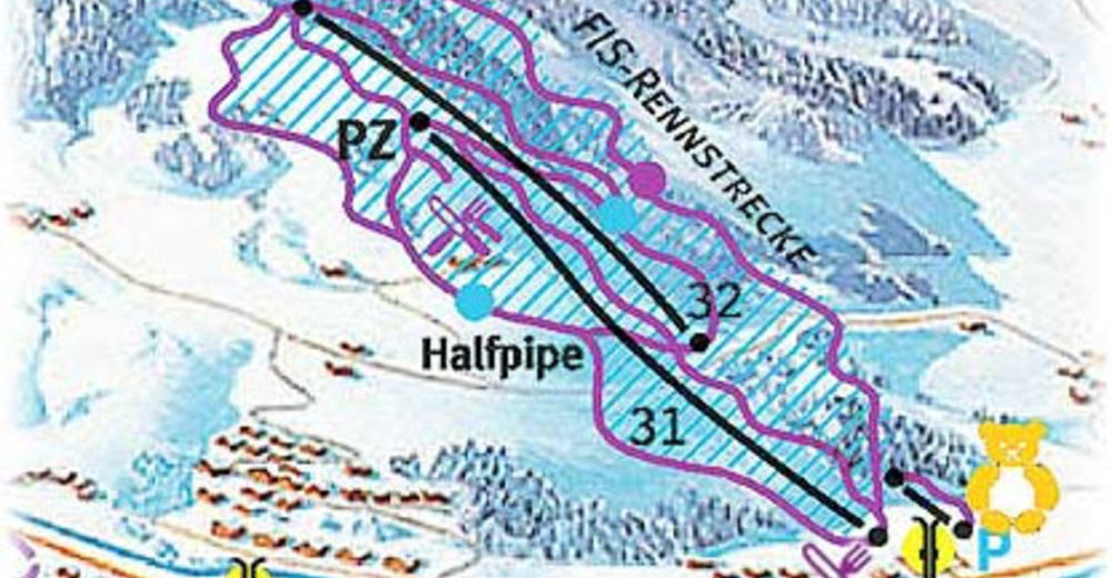 Piste map Ski resort Saalfelden - Hinterreit