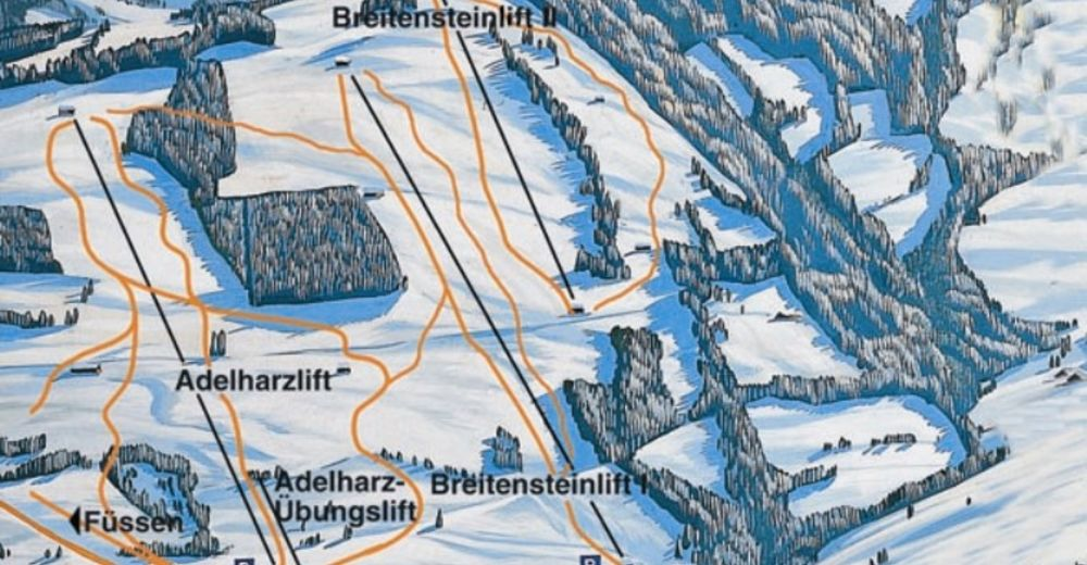 Piste map Ski resort Adelharz - Breitenstein Lifte