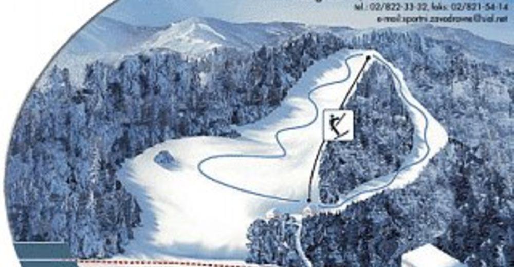 План лыжни Лыжный район Poseka/Ravne