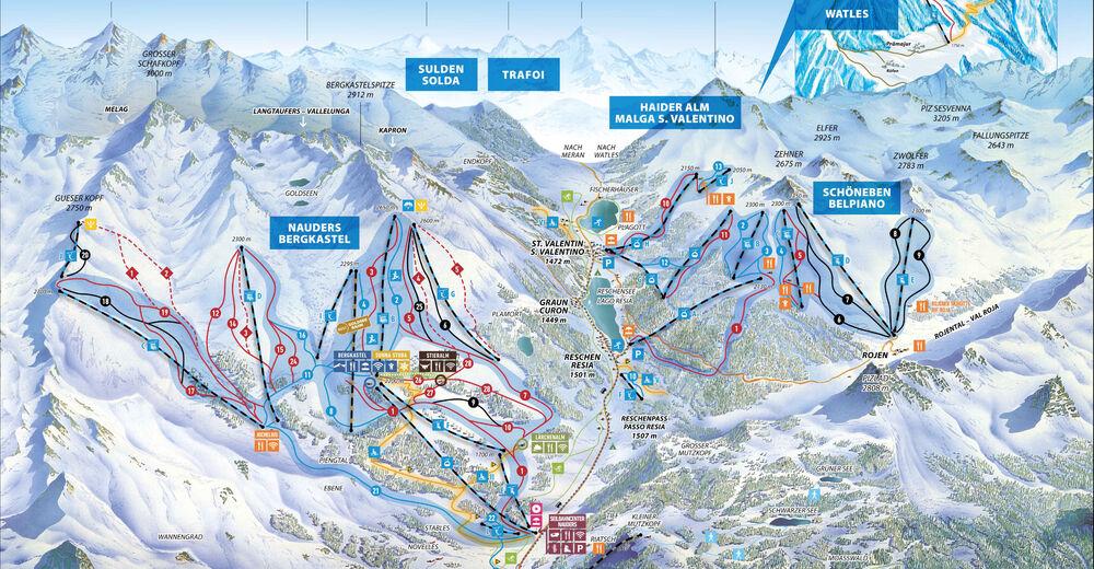 Plan de piste Station de ski Nauders