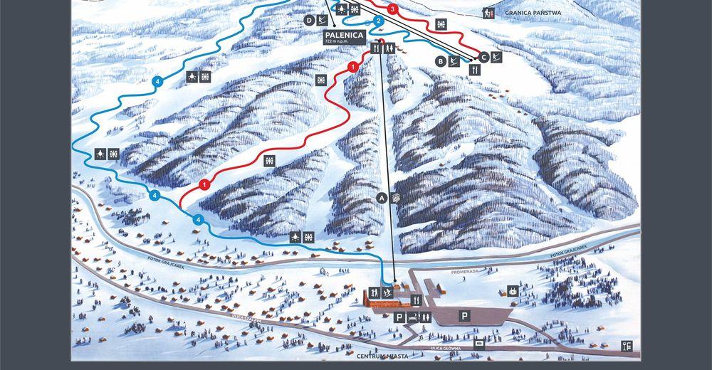 Plan skijaških staza Skijaško područje Palenica
