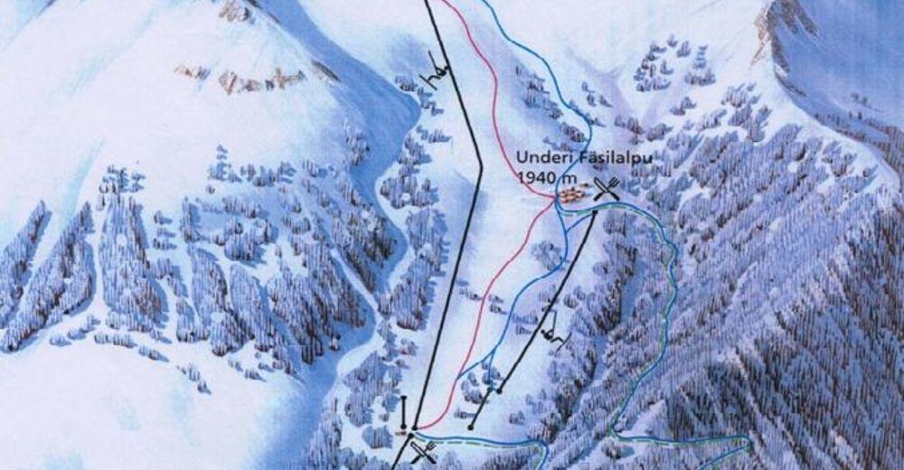 Pistenplan Skigebiet Jeizinen - Feselalpe