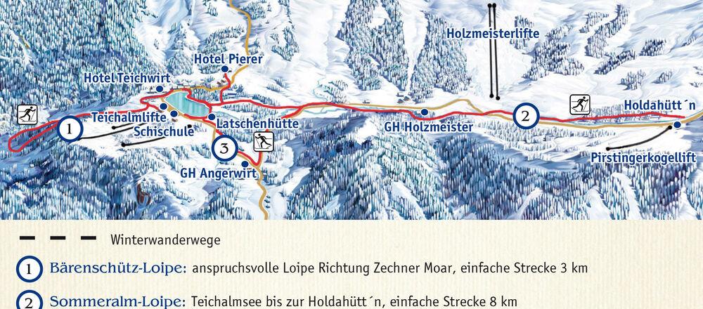Loipenplan Almenland - Teichalm Lifte & Loipen