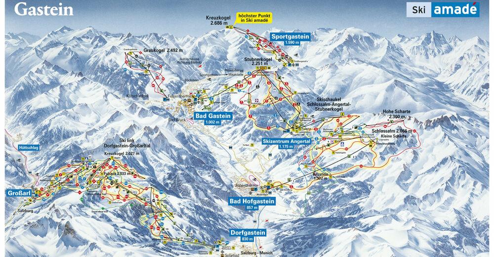Pályaterv Síterület Bad Gastein - Ski amade
