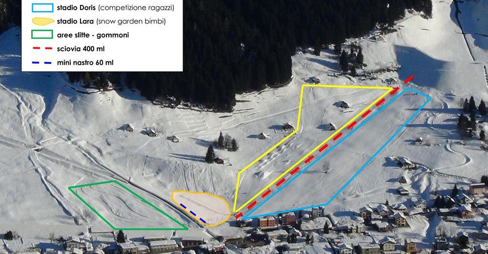 Pistplan Skidområde Airolo - Lüina
