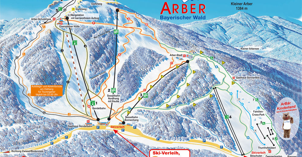 Piste map Ski resort Grosser Arber