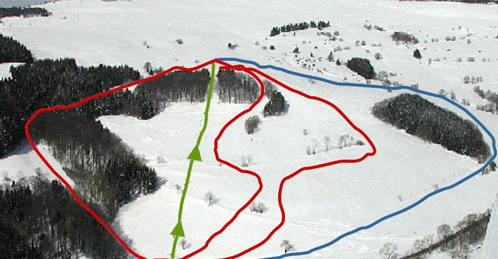 Planul pistelor Zonă de schi Zuckerfeld