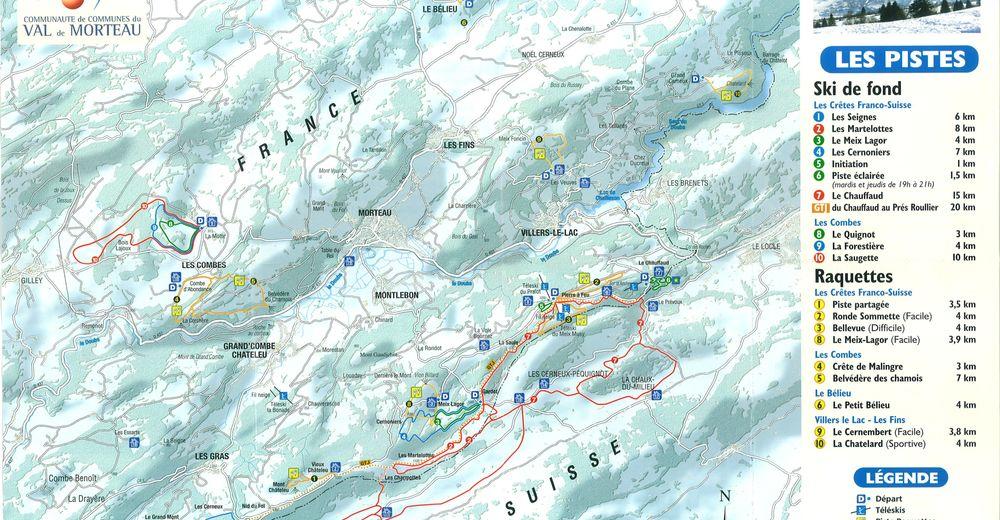 Plan de piste Station de ski Meix-Musy - Pierre á Feu