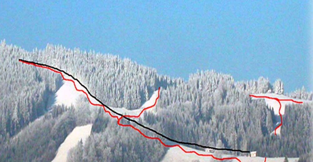 Piste map Ski resort Glasenberg - Maria Neustift
