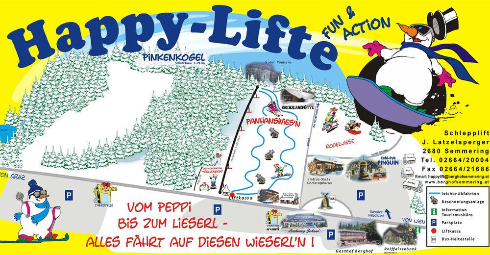 Mapa zjazdoviek Lyžiarske stredisko Semmering - Happylift