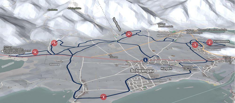 Loipenplan Schwangau / Tegelberg