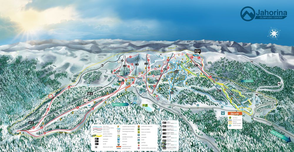 Piste map Ski resort Jahorina