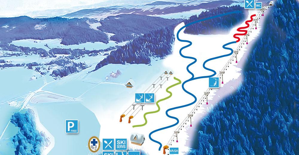 Pisteplan Skigebied Limanowa Ski