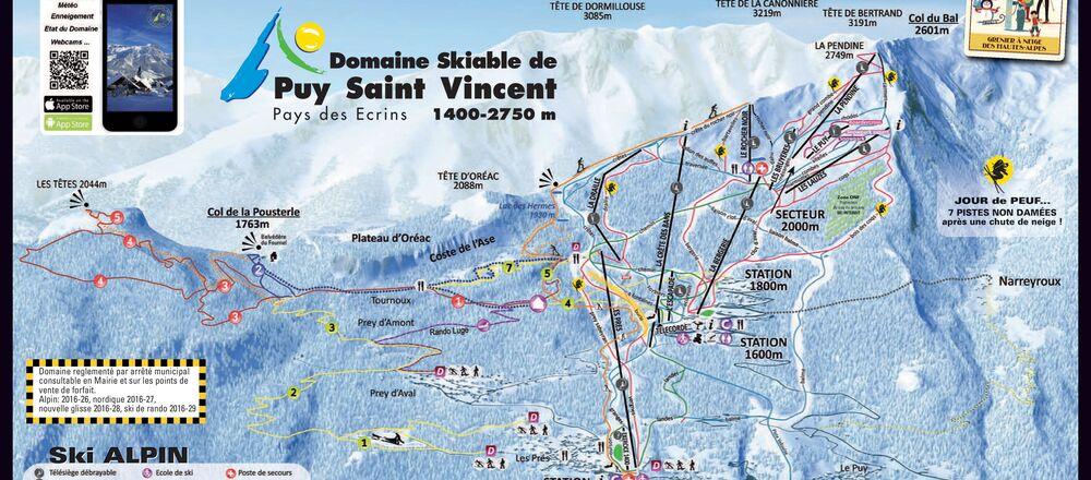 Loipenplan Puy St. Vincent