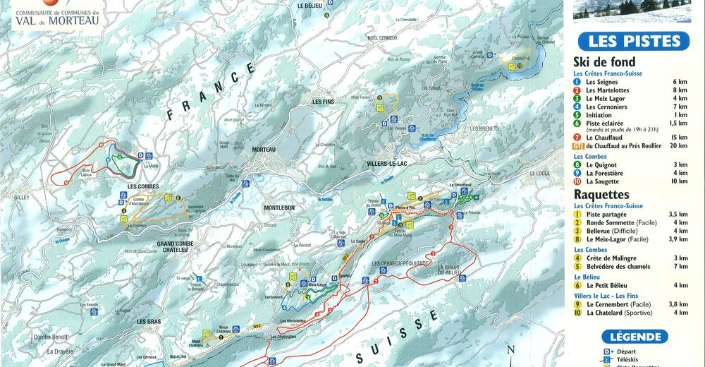 Piste map Ski resort La Bonade – Grand'Combe Chateleu