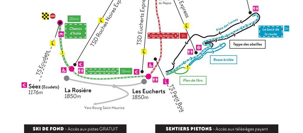 Loipenplan La Rosière