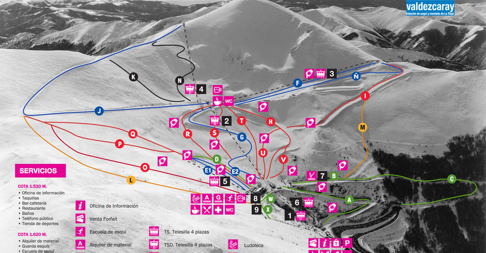 Piste map Ski resort Valdezcaray