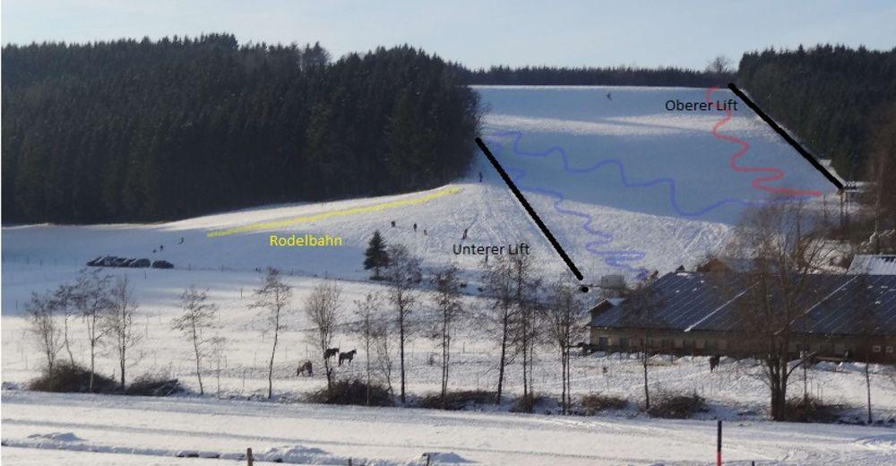 Pistenplan Skigebiet Awengen - Eberhardzell