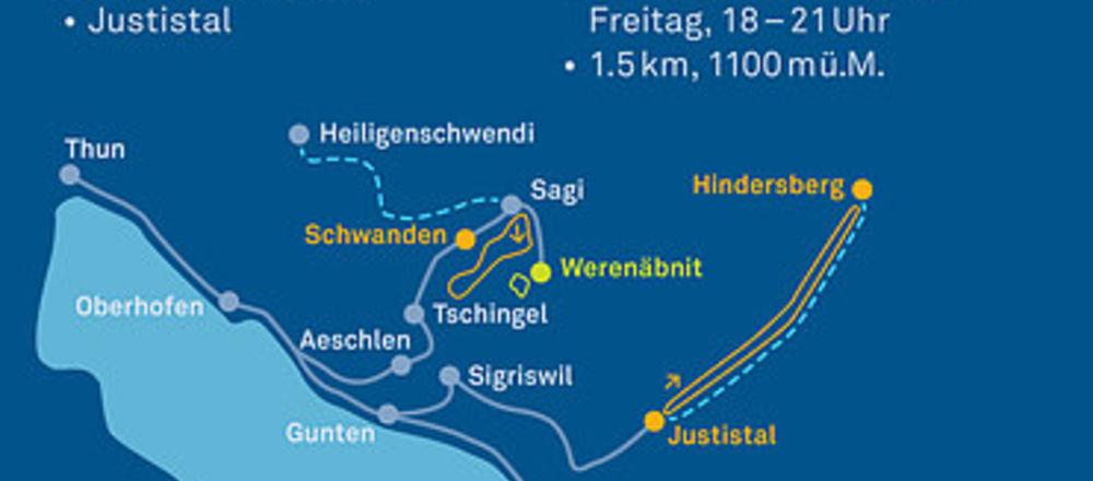 Loipenplan Schwanden - Sigriswil - Justistal