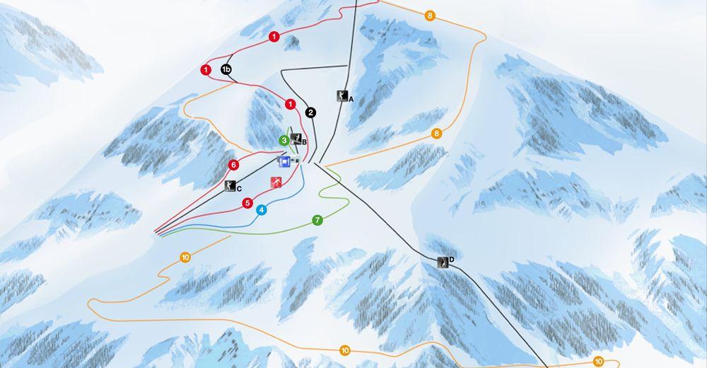Pistenplan Skigebiet Ala di Stura