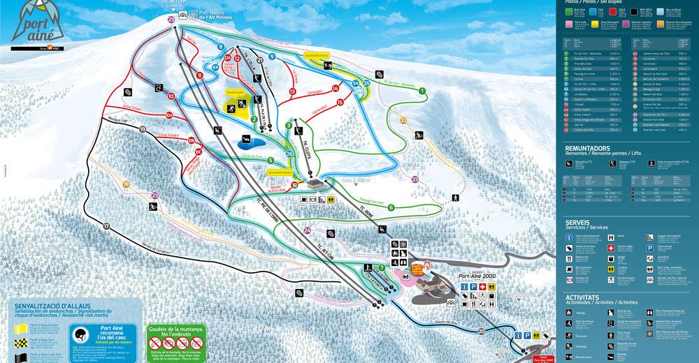 Plan de piste Station de ski Port Ainé
