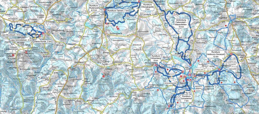 Loipenplan Vorderer Bayerischer Wald