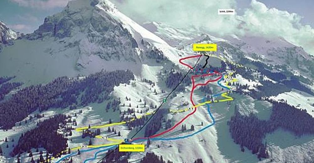 Piste map Ski resort Schilt / Mollis