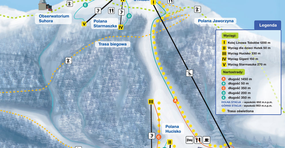Piste map Ski resort Koninki
