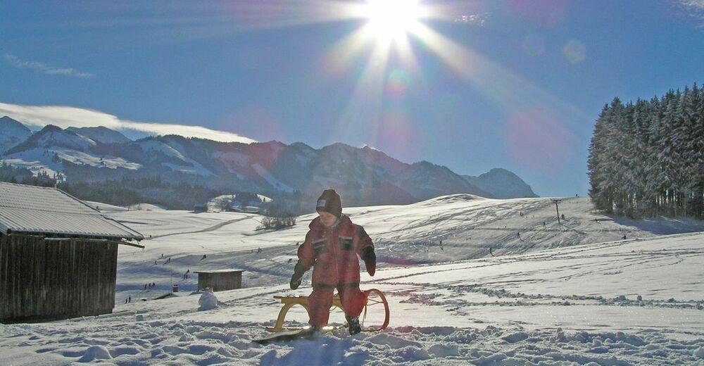 Pistenplan Skigebiet Schwäbeleholz / Sonthofen