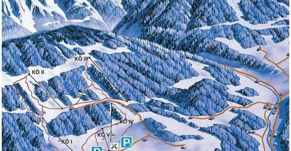 Mapa stoków Ośrodek narciarski Königsberg - Hollenstein/Ybbs