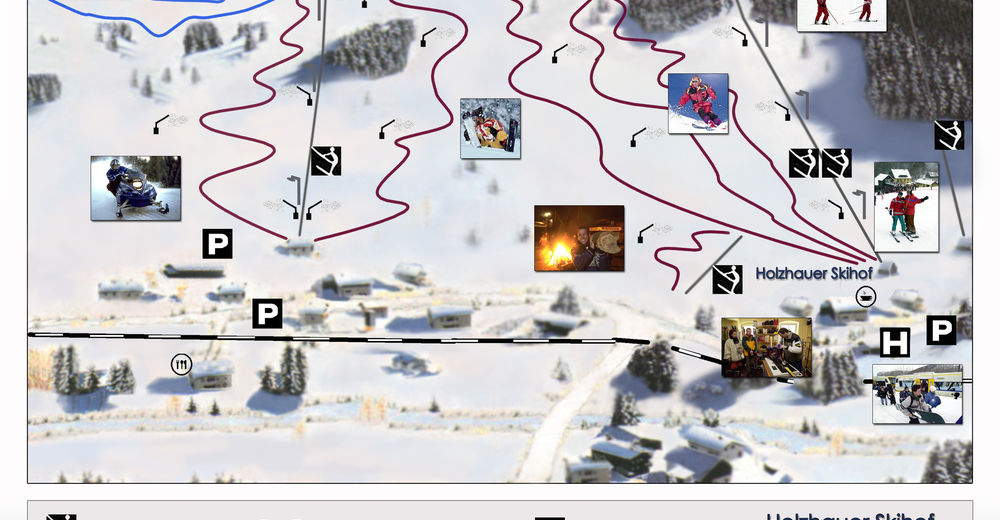 Plán sjezdovky Lyžařská oblast Holzhau