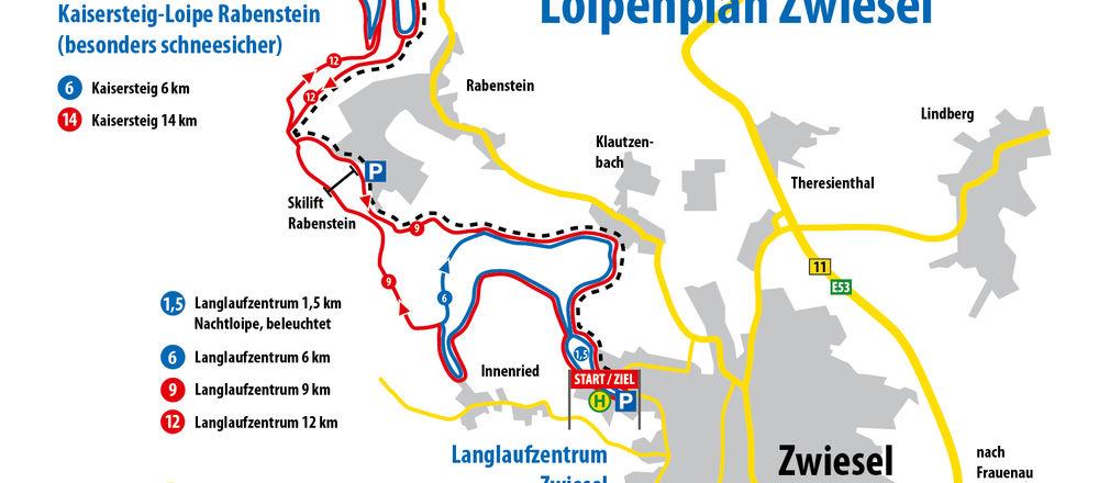 Loipenplan Zwiesel