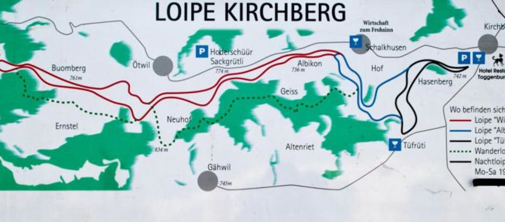 Loipenplan Kirchberg