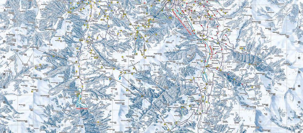 Loipenplan Kitzbühel - Kirchberg