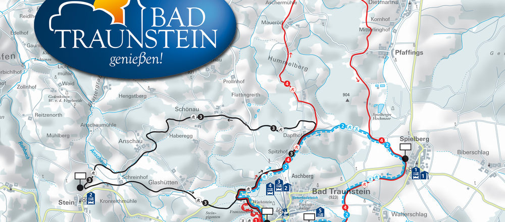 Loipenplan Bad Traunstein