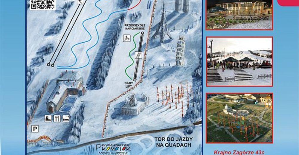 Mappa delle piste Comparto sciistico Sabat Krajno