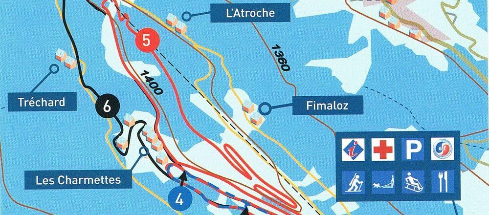 Loipenplan Agy - les Carroz - Flaine