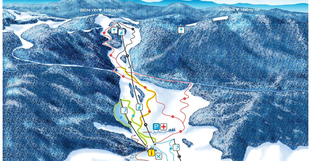 Piste map Ski resort Javornik