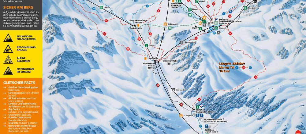 Loipenplan Stubaier Gletscher