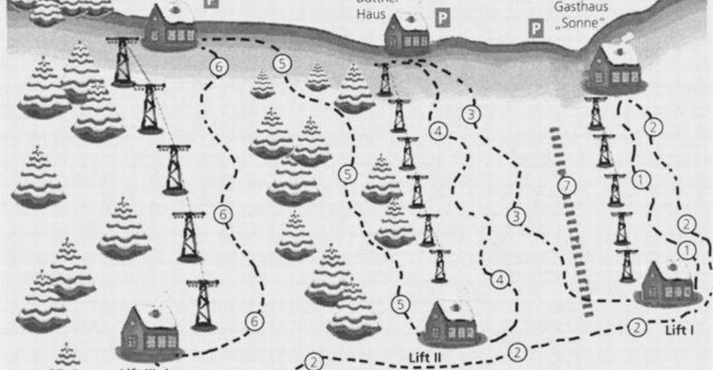 Pistenplan Skigebiet Simmersfeld